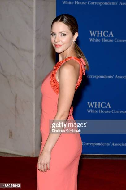 Actress Katharine McPhee attends the 100th Annual White House Correspondents' Association Dinner at the Washington Hilton on May 3 2014 in Washington...