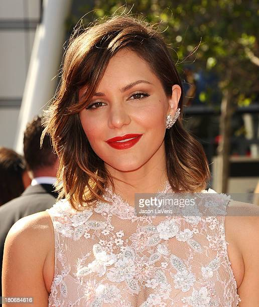 Actress Katharine McPhee attends the 2013 Creative Arts Emmy Awards at Nokia Theatre LA Live on September 15 2013 in Los Angeles California