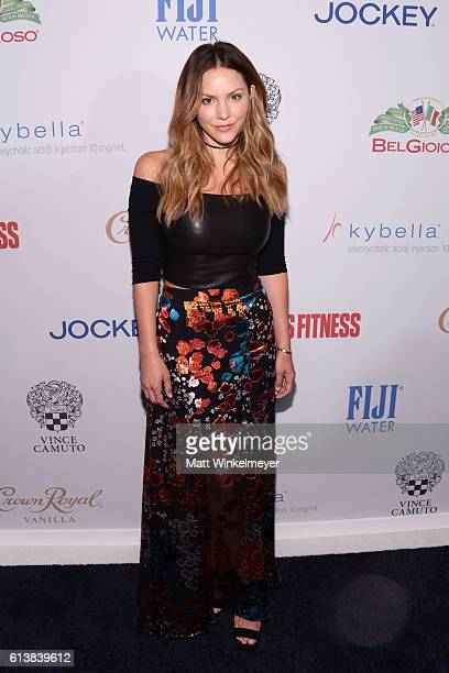 Actress Katharine McPhee attends the Men's Fitness Game Changers Celebration at Sunset Tower Hotel on October 10 2016 in West Hollywood California
