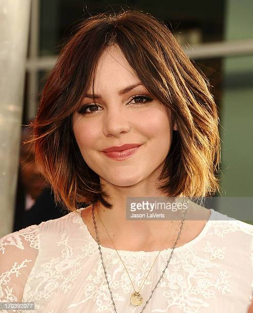 """Actress Katharine McPhee attends the season 6 premiere of HBO's """"True Blood"""" at ArcLight Cinemas Cinerama Dome on June 11, 2013 in Hollywood,..."""