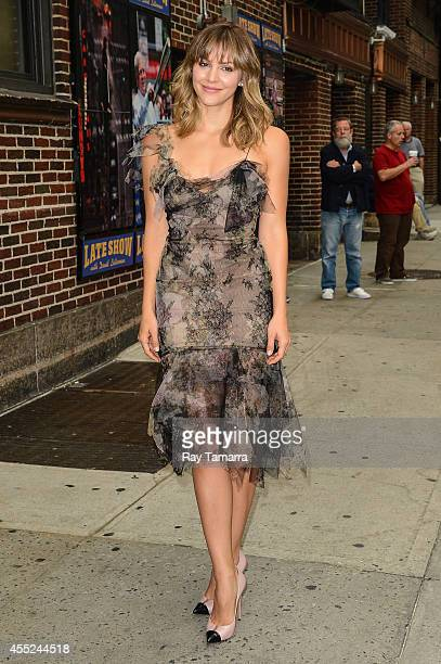 Actress Katharine McPhee enters the 'Late Show With David Letterman' taping at the Ed Sullivan Theater on September 10 2014 in New York City