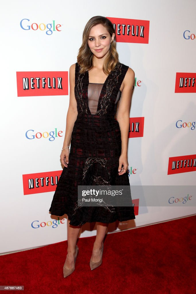 Actress Katharine McPhee walks the red carpet at Google/Netflix White House Correspondent's Weekend Party at United States Institute of Peace on Friday, May 2, 2014 in Washington, DC.