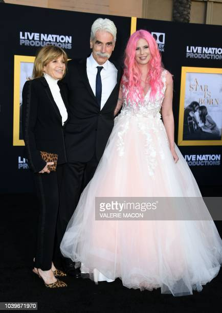 "Actress Katharine Ross, actor Sam Elliott and their daughter musician Cleo Rose Elliott attend the premiere of ""A star is born"" at the Shrine..."
