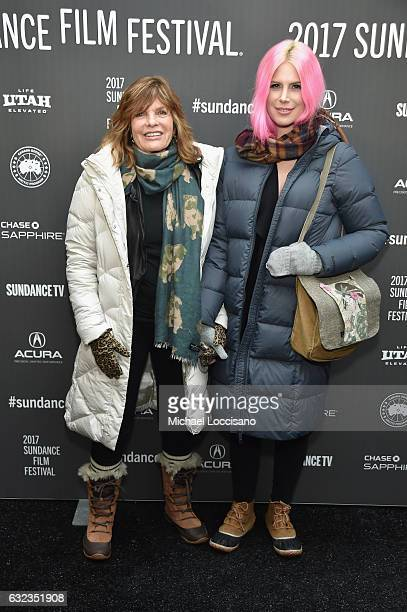 "Actress Katharine Ross and Cleo Ross attend the ""The Hero"" premiere on day 3 of the 2017 Sundance Film Festival at Library Center Theater on January..."