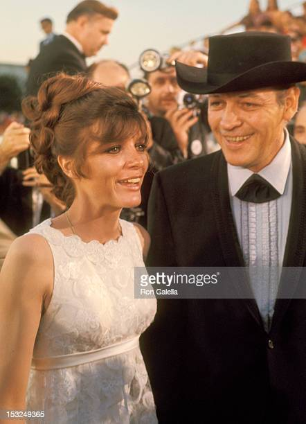 Actress Katharine Ross and guest attend the 40th Annual Academy Awards on April 10, 1968 at Santa Monica Civic Auditorium in Santa Monica, California.
