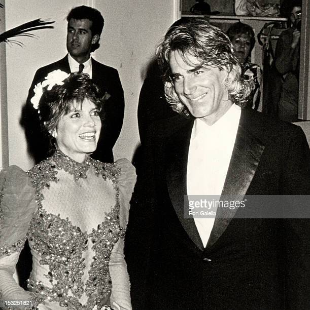 Actress Katharine Ross and Sam Elliott attending 45th Annual Golden Globe on January 23 1988 at the Beverly Hilton Hotel in Beverly Hills California
