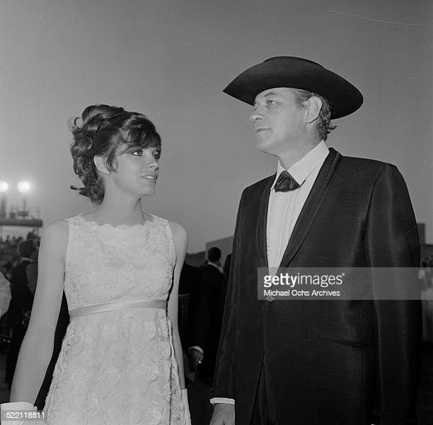 Actress Katharine Ross and writer Clair Huffaker attend an event in Los AngelesCA