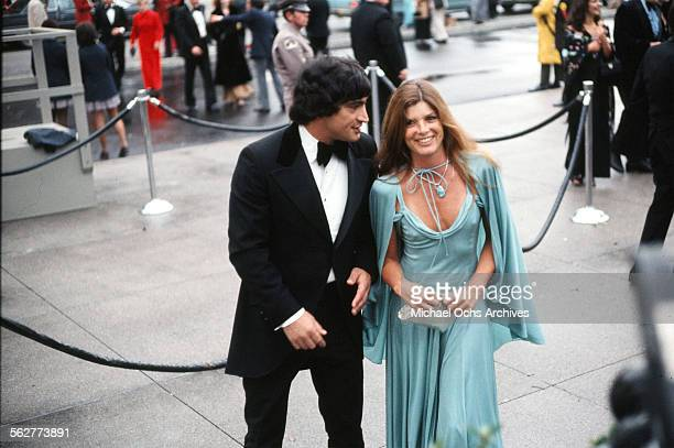 Actress Katharine Ross arrives with husband actor Gaetano Lisi to the 47th Academy Awards at Dorothy Chandler Pavilion in Los Angeles,California.