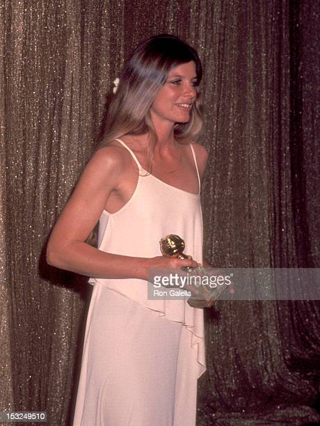 Actress Katharine Ross attends the 34th Annual Golden Globe Awards on January 29 1977 at Beverly Hilton Hotel in Beverly Hills California