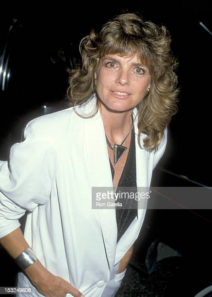 "Actress Katharine Ross attends the ""Wrap-Up Party for the First Season of 'The Colbys'"" on April 13, 1986 at Beverly Wilshire Hotel in Beverly Hills,..."