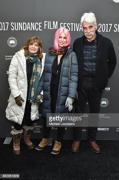 Actress Katharine Ross Cleo Ross and Sam Elliott attend the The Hero premiere on day 3 of the 2017 Sundance Film Festival at Library Center Theater...