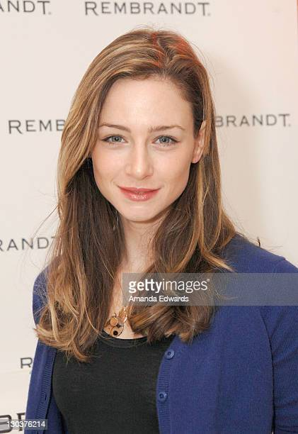 Actress Katharine Towne attends The Belvedere Luxury Lounge in honor of the 80th Academy Awards featuring Rembrandt held at the Four Seasons Hotel on...