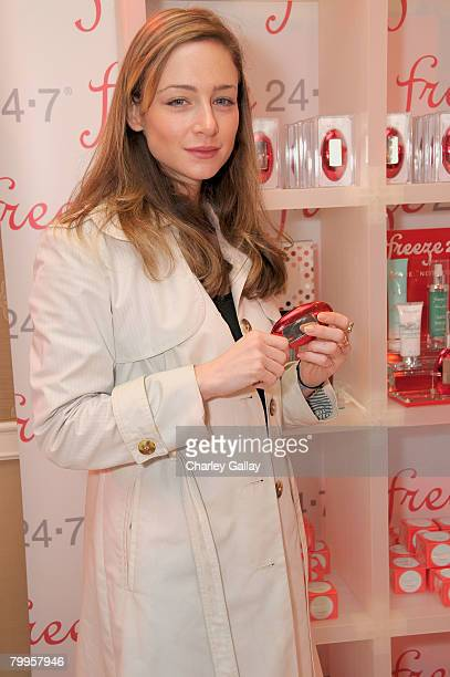 Actress Katharine Towne attends The Belvedere Luxury Lounge in honor of the 80th Academy Awards featuring Freeze 247 Skincare held at the Four...