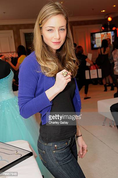 Actress Katharine Towne attends The Belvedere Luxury Lounge in honor of the 80th Academy Awards featuring The Right Label By Orianne Collins held at...