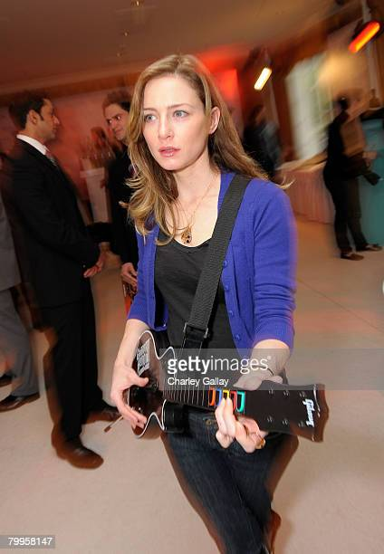 Actress Katharine Towne attends The Belvedere Luxury Lounge in honor of the 80th Academy Awards featuring Activision's Guitar Hero III Legends of...
