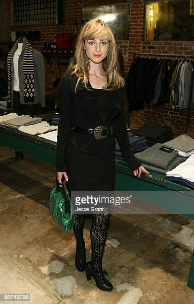 Actress Katharine Towne attends the Confederacy Hearts Rag and Bone cocktail party held at Confederacy on November 18 2008 in Los Angeles California