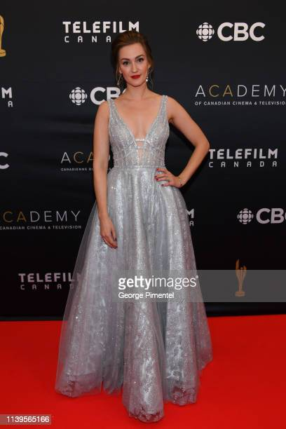Actress Katherine Barrell attends the 2019 Canadian Screen Awards Broadcast Gala at Sony Centre for the Performing Arts on March 31 2019 in Toronto...