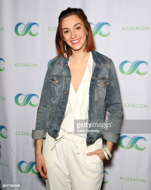 Actress Katherine Barrell attends the ClexaCon 2018 convention at the Tropicana Las Vegas on April 6, 2018 in Las Vegas, Nevada.