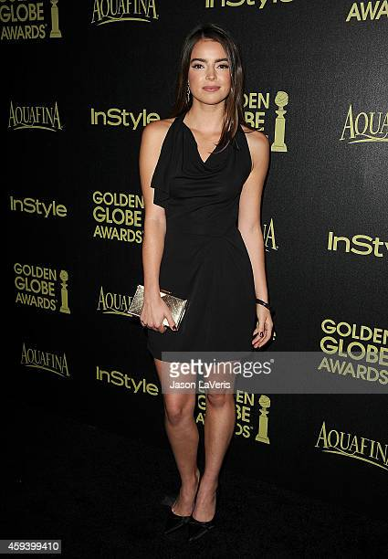 Actress Katherine C Hughes attends the Hollywood Foreign Press Association and InStyle's celebration of the 2015 Golden Globe award season at Fig...