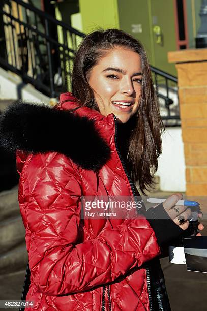 Actress Katherine C Hughes walks in Park City on January 26 2015 in Park City Utah