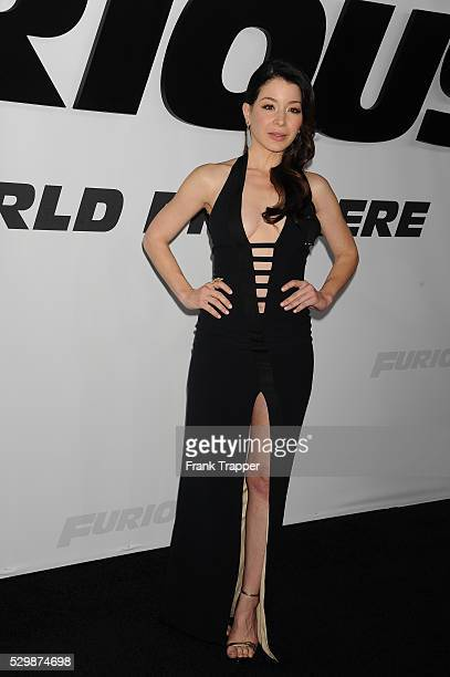 Actress Katherine Castro arrives at the premiere of Furious 7 held at the TCL Chinese Theater in Hollywood