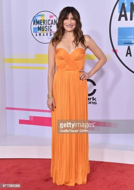Actress Katherine Hahn arrives at the 2017 American Music Awards at Microsoft Theater on November 19 2017 in Los Angeles California