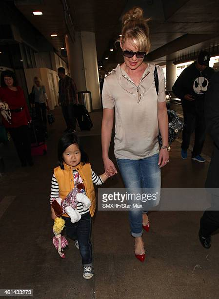 Actress Katherine Heigl and her daughter Nancy Leigh Kelley is seen on January 8 2014 in Los Angeles California