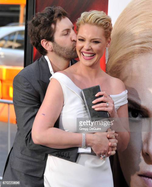 """Actress Katherine Heigl and husband Josh Kelley arrive at the premiere of Warner Bros. Pictures' """"Unforgettable"""" at TCL Chinese Theatre on April 18,..."""