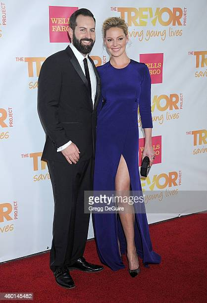 Actress Katherine Heigl and husband Josh Kelley arrive at TrevorLIVE Los Angeles at Hollywood Palladium on December 7 2014 in Los Angeles California