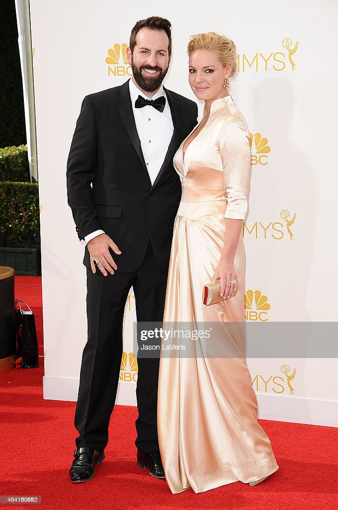 Actress Katherine Heigl (R) and husband Josh Kelley attend the 66th annual Primetime Emmy Awards at Nokia Theatre L.A. Live on August 25, 2014 in Los Angeles, California.