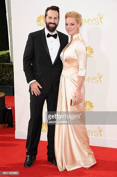 Actress Katherine Heigl and husband Josh Kelley attend the 66th annual Primetime Emmy Awards at Nokia Theatre LA Live on August 25 2014 in Los...