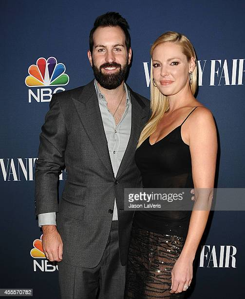 Actress Katherine Heigl and husband Josh Kelley attend the NBC Vanity Fair 2014 2015 TV season event at HYDE Sunset Kitchen Cocktails on September 16...