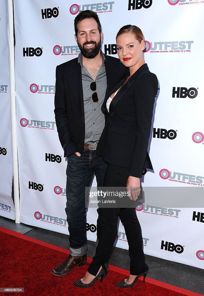 Actress Katherine Heigl (R) and husband Josh Kelley attend the premiere of 'Jenny's Wedding' at the 2015 Outfest Los Angeles LGBT Film Festival at Directors Guild Of America on July 10, 2015 in West Hollywood, California.