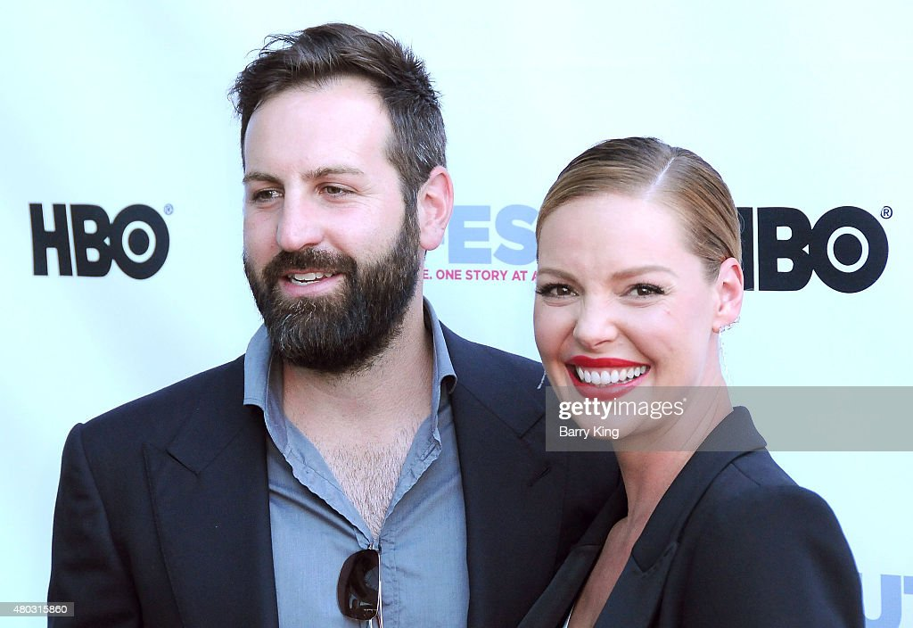 Actress Katherine Heigl (R) and husband musician Josh Kelley arrive at the Premiere of IFC's 'Jenny's Wedding' at 2015 Outfest Los Angeles LGBT Film Festival at Director's Guild Of America on July 10, 2015 in West Hollywood, California.