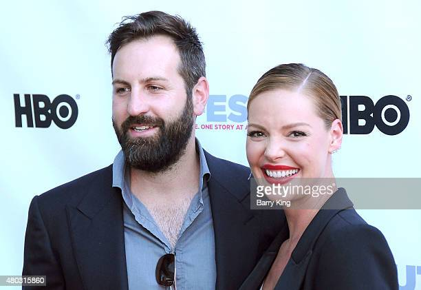 Actress Katherine Heigl and husband musician Josh Kelley arrive at the Premiere of IFC's 'Jenny's Wedding' at 2015 Outfest Los Angeles LGBT Film...