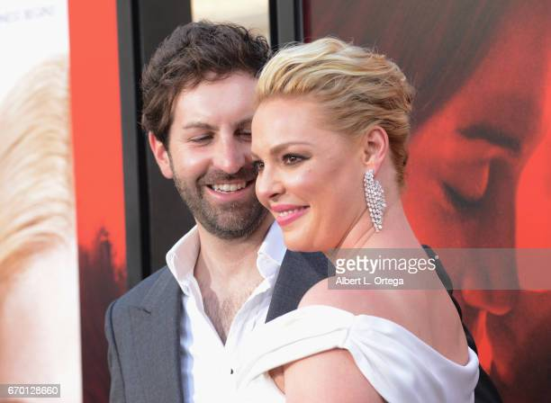 """Actress Katherine Heigl and husband/musician Josh Kelly arrive for the Premiere Of Warner Bros. Pictures' """"Unforgettable"""" held at TCL Chinese Theatre..."""