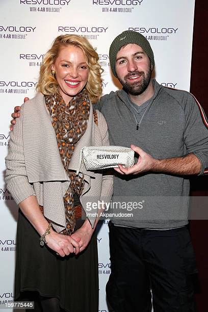 Actress Katherine Heigl and Josh Kelley attend Day 2 of Kari Feinstein Style Lounge on January 19 2013 in Park City Utah
