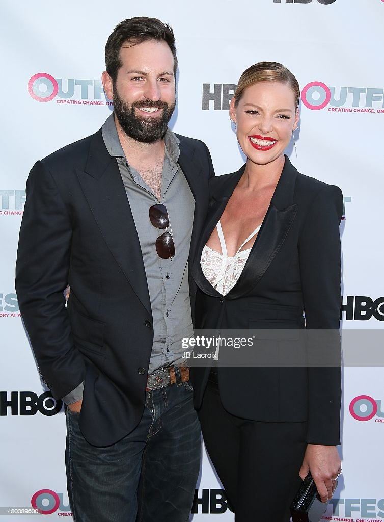 Actress Katherine Heigl and Josh Kelley attend the Premiere of IFC's 'Jenny's Wedding' at 2015 Outfest Los Angeles LGBT Film Festival at Director's Guild Of America on July 10, 2015 in West Hollywood, California.