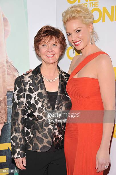 Actress Katherine Heigl and novelist Janet Evanovich attend the One for the Money premiere at the AMC Loews Lincoln Square on January 24 2012 in New...