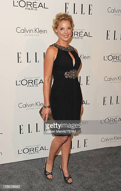Actress Katherine Heigl arrive at ELLE's 18th Annual Women in Hollywood Tribute held at the Four Seasons Hotel on October 17 2011 in Los Angeles...