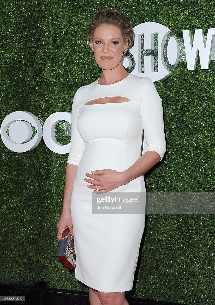 Actress Katherine Heigl arrives at CBS, CW, Showtime Summer TCA Party at Pacific Design Center on August 10, 2016 in West Hollywood, California.