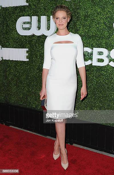 Actress Katherine Heigl arrives at CBS CW Showtime Summer TCA Party at Pacific Design Center on August 10 2016 in West Hollywood California