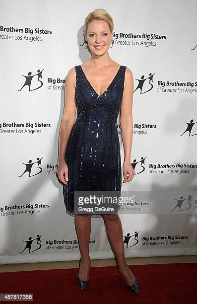 Actress Katherine Heigl arrives at the Big Brothers Big Sisters Big Bash at The Beverly Hilton Hotel on October 24 2014 in Beverly Hills California
