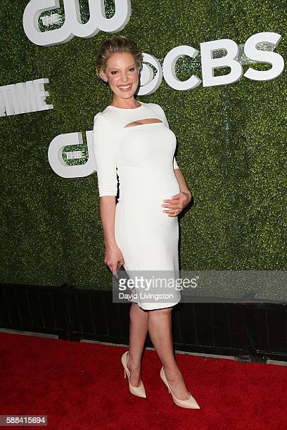 Actress Katherine Heigl arrives at the CBS CW Showtime Summer TCA Party at the Pacific Design Center on August 10 2016 in West Hollywood California