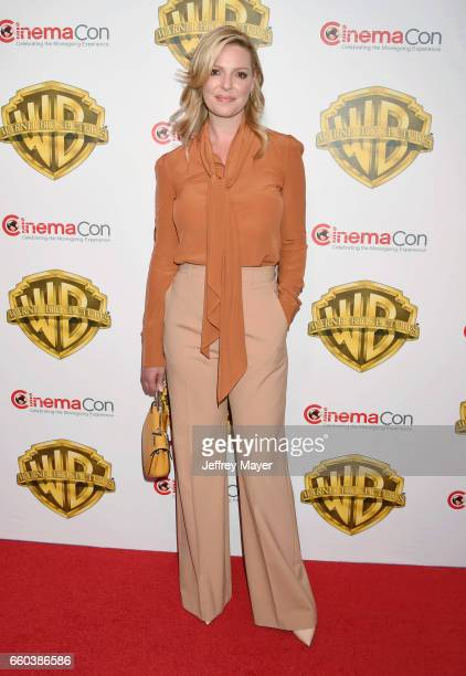 Actress Katherine Heigl arrives at the CinemaCon 2017 Warner Bros. Pictures presentation of their upcoming slate of films at The Colosseum at Caesars...