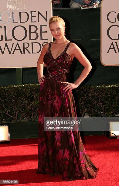 Actress Katherine Heigl arrives to the 63rd Annual Golden Globe Awards at the Beverly Hilton on January 16 2006 in Beverly Hills California
