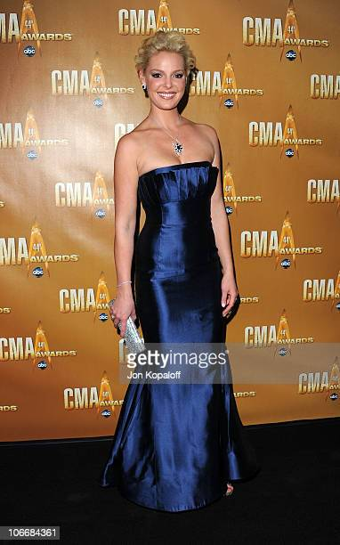 Actress Katherine Heigl attends the 44th Annual CMA Awards at the Bridgestone Arena on November 10 2010 in Nashville Tennessee