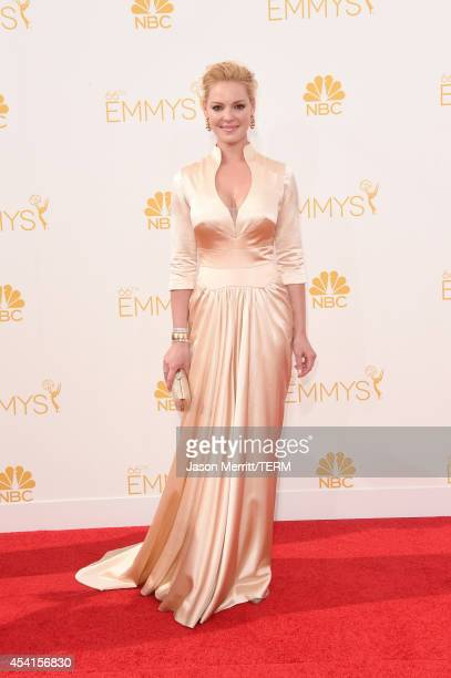 Actress Katherine Heigl attends the 66th Annual Primetime Emmy Awards held at Nokia Theatre LA Live on August 25 2014 in Los Angeles California