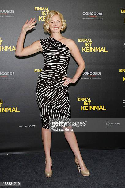 Actress Katherine Heigl attends the 'Einmal ist keinmal' photocall at Hotel de Rome on February 6, 2012 in Berlin, Germany.