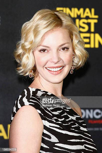 Actress Katherine Heigl attends the 'Einmal ist keinmal' photocall at Hotel de Rome on February 6 2012 in Berlin Germany
